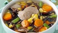 sup bakso jamur kuping