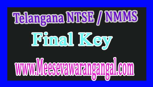 Telangana NTSE / NMMS Nov 2016 Final Key