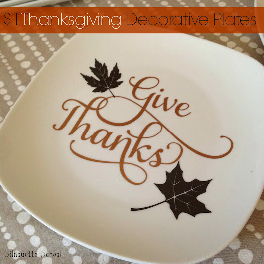 $1 DIY Thanksgiving Decorative Plates (And a Giveaway)
