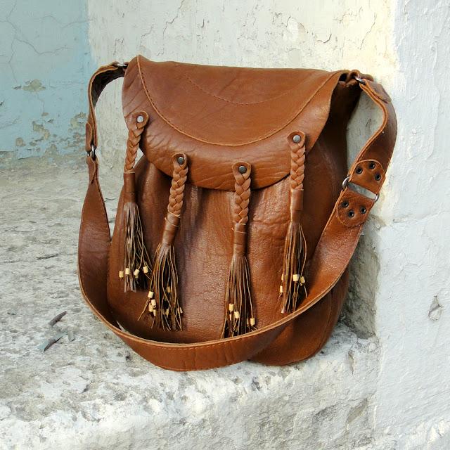 Женская кожаная сумка в этностиле. Коричневая кожа. Натуральная шкура ламы. Единственный экземпляр, ручная работа