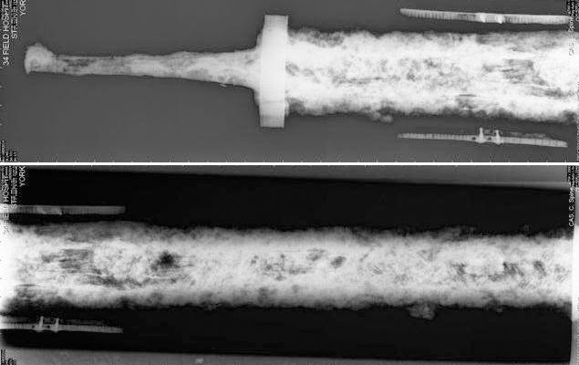 X-rays reveal secrets of Anglo-Saxon sword