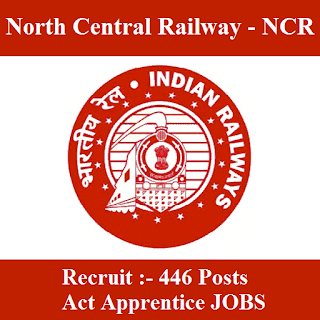 North Central Railway, NCR, Uttar Pradesh, UP, Indian Railway, Railway, RAILWAY, Act Apprentices, Apprentice, 10th, ITI, freejobalert, Sarkari Naukri, Latest Jobs, nc railway logo