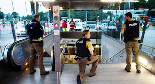 Terroristas muçulmanos promovem ataque a centro comercial em Munique, na Alemanha, 15 pessoas morreram