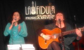Sara Veneros y Lucía Molina.