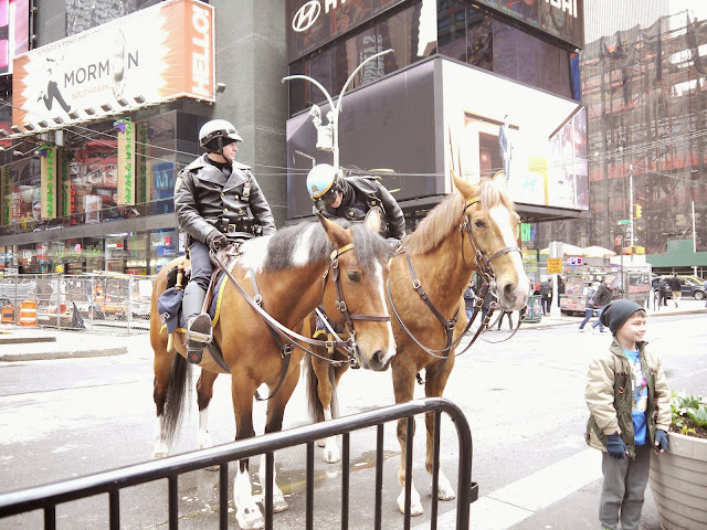 Police horse in Times Square