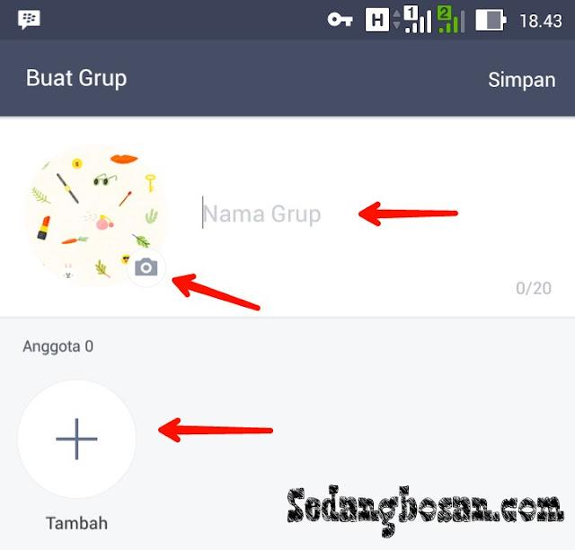 Seting Nama Grup dan Foto Grup