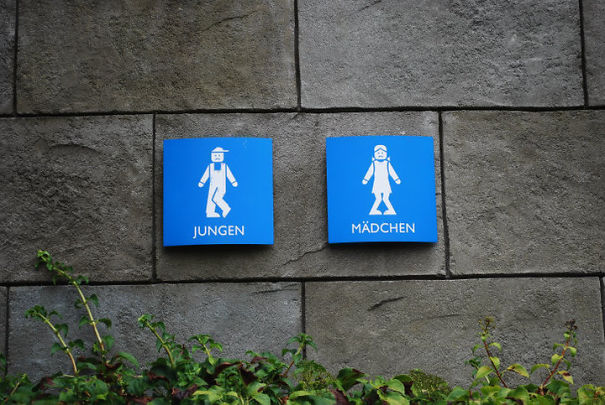 20+ Of The Most Creative Bathroom Signs Ever - Legoland, Germany