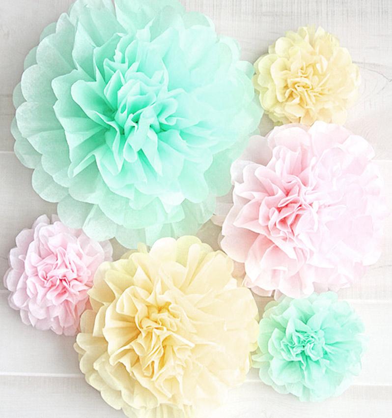 Como Hacer Flores O Pompones De Tul Grandes Y Chicos Muy Facil