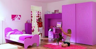 cuarto lila para niña
