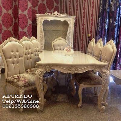Jual Furniture Ukir jepara-Meja makan ukir italy mewah-Toko mebel jati klasik-Toko jati-Furniture Klasik Mewah