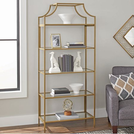 Tall gold etagere from Walmart