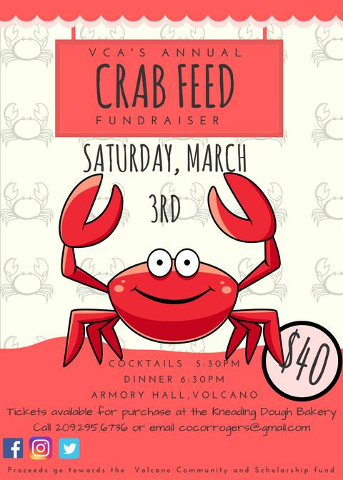 VCA's Annual Crab Feed Fundraiser - Sat Mar 3