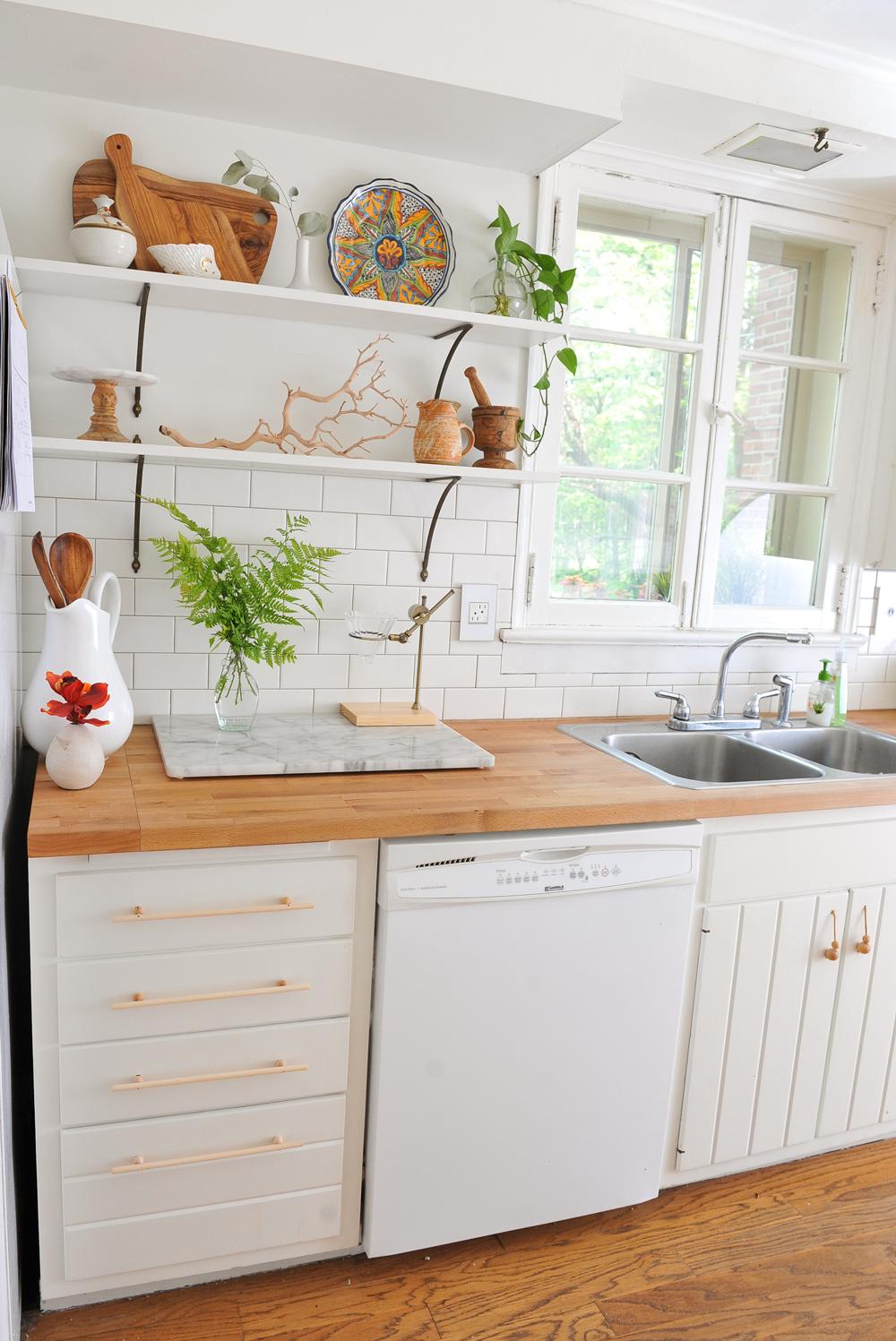 DIY Modern Wood Cabinet Pulls   A New Bloom Kitchen