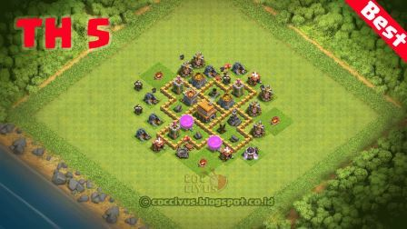 Formasi Pertahanan CoC TH 5 Base Trophy