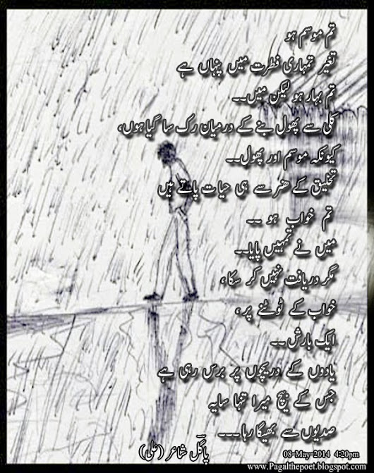 TUM KHAWAB HO.... PAGAL The Poet (ALI)