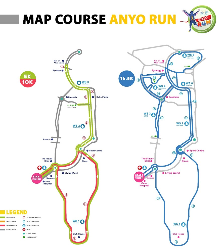 Anyo Charity Run Route 2018