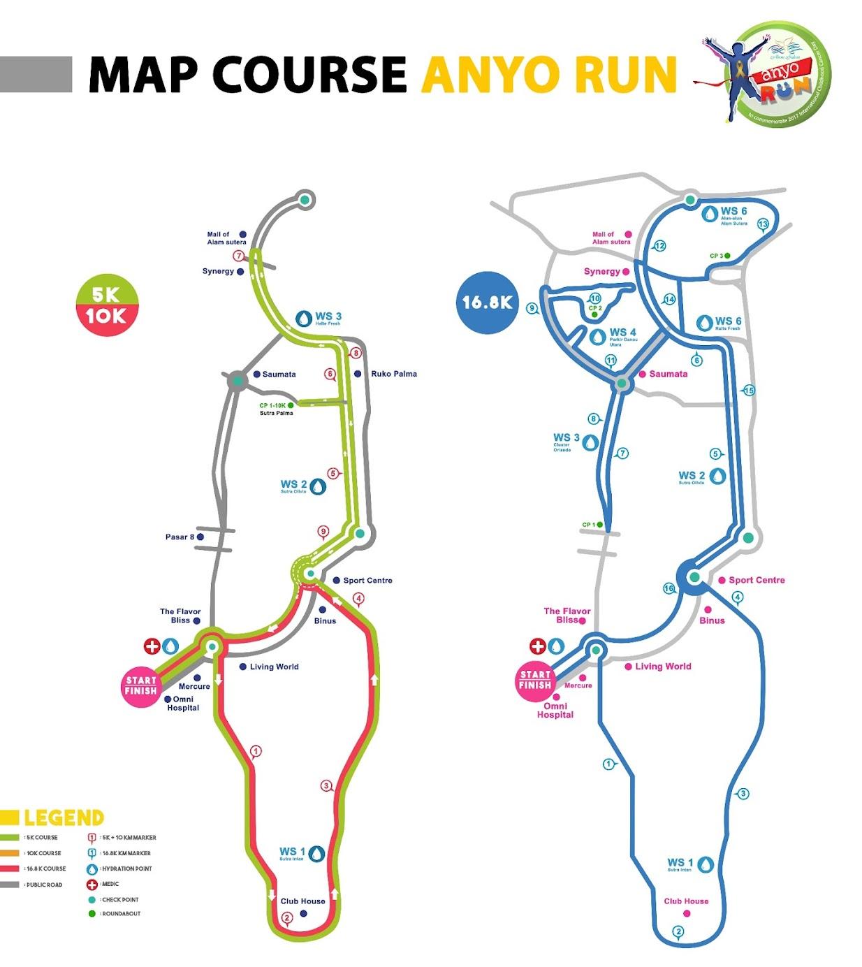 Anyo Charity Run Route 2018