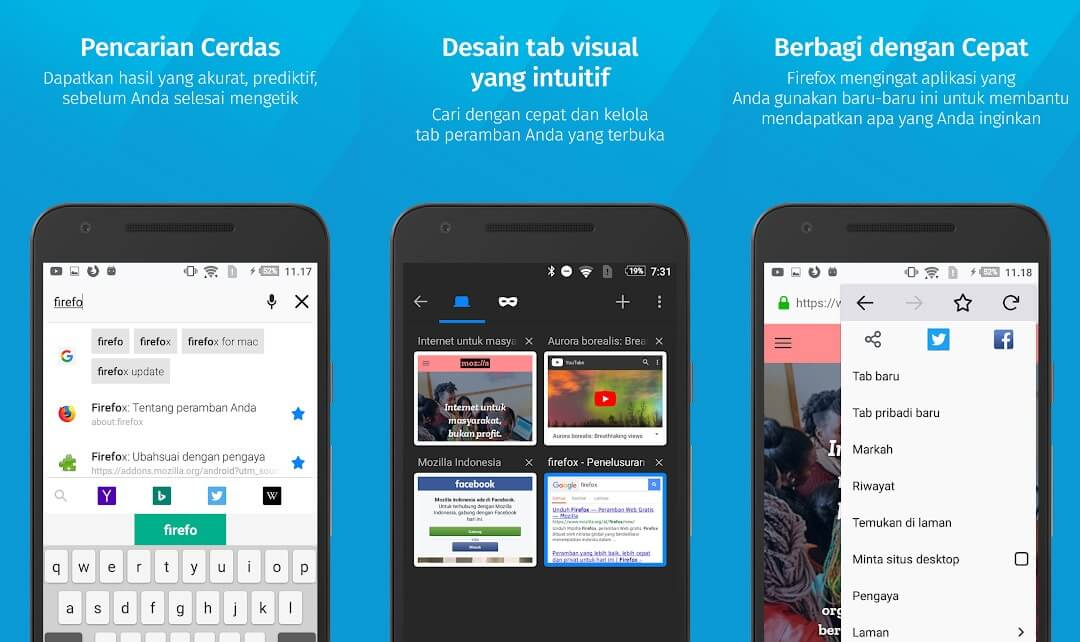 10 Aplikasi Browser Android Terbaik - Firefox