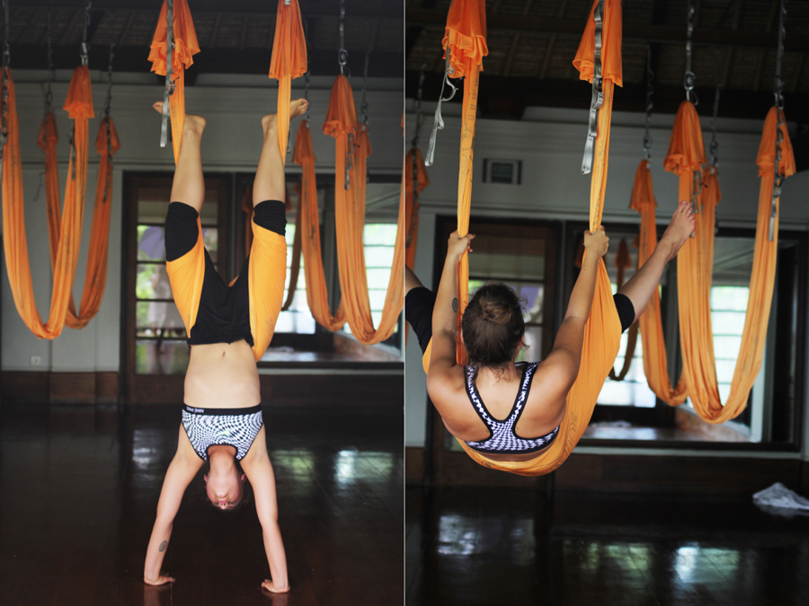 training muscle abs yoga anti gravity