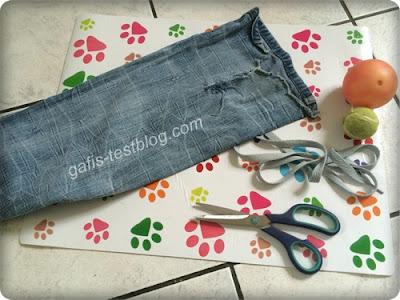 Bastelzubehör - Hundespielzeug - Jeansmännchen