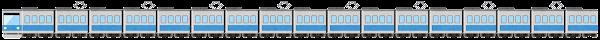 電車のライン素材(水色)