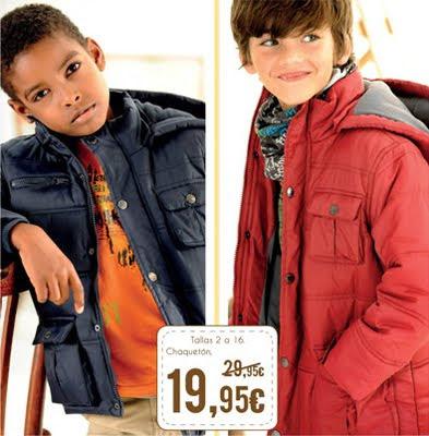 El Corte Inglés chaquetón niños