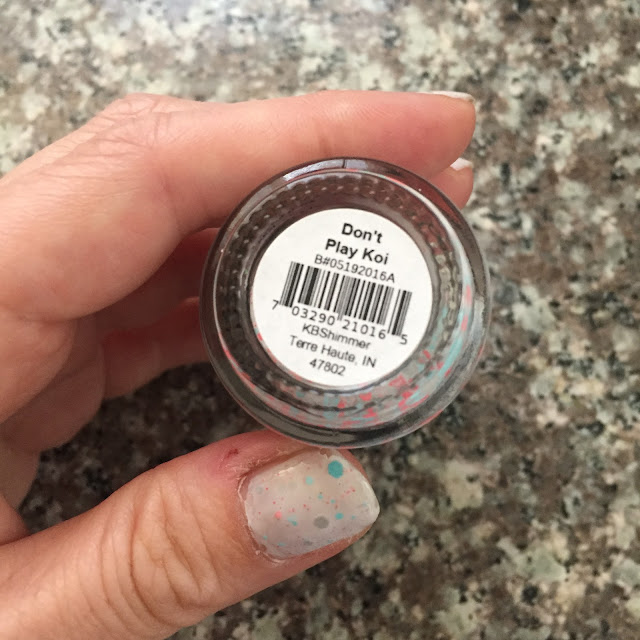 KBShimmer, KBShimmer Don't Play Koi, KBShimmer Summer 2016 nail polish collection, nails, nail polish, nail lacquer, nail varnish, manicure, #ManiMonday