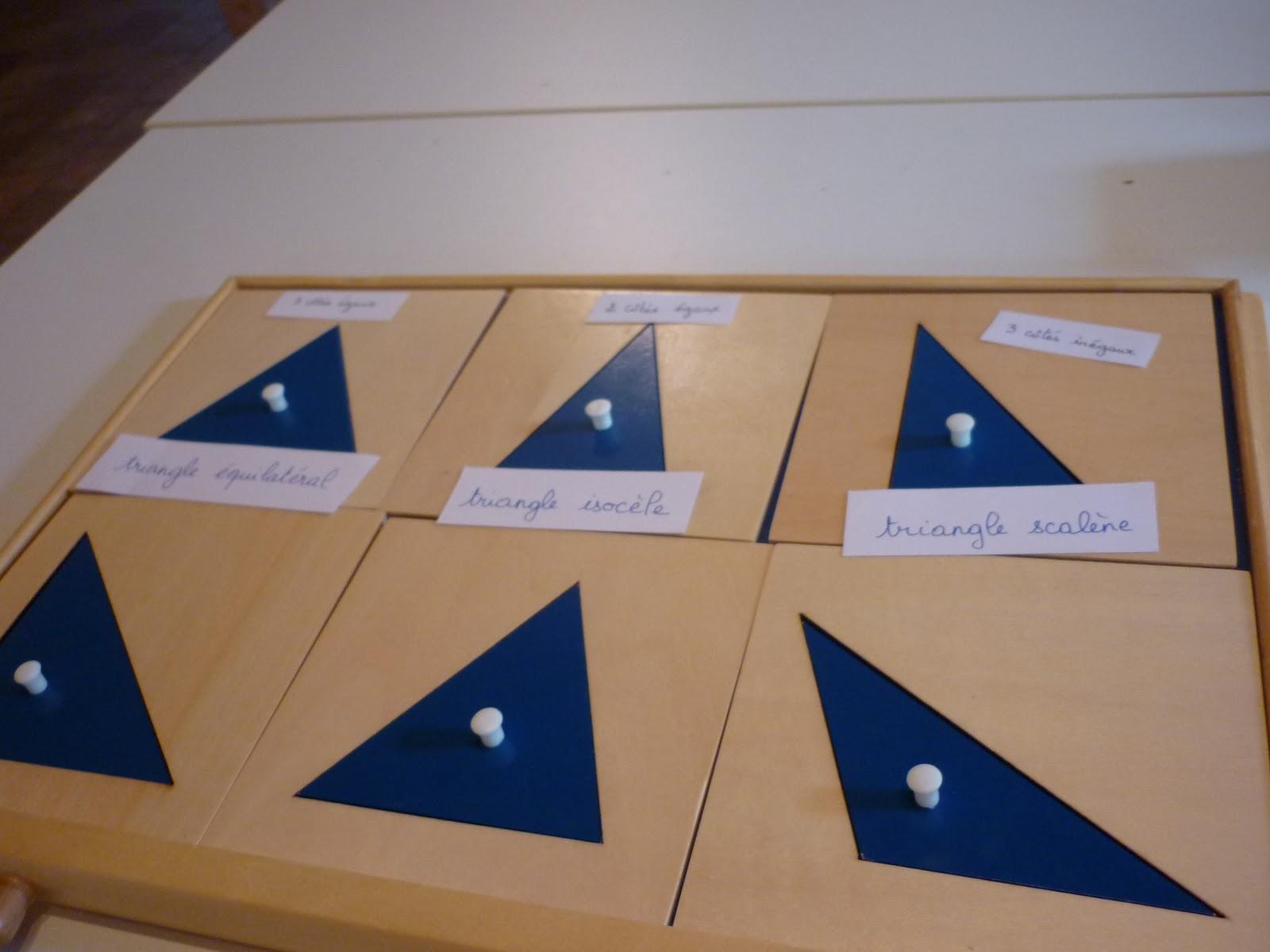 montessori avec les 6 12 ans g om trie les triangles i. Black Bedroom Furniture Sets. Home Design Ideas