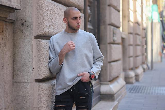 maglione in poliestere uomo asos
