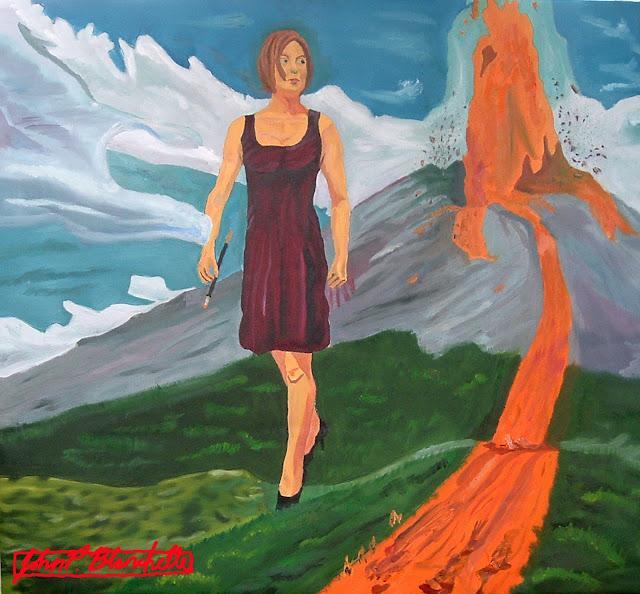 fantasy volcano art