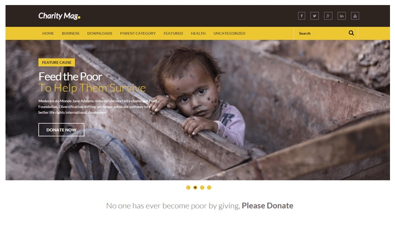 Charity Mag Full Width Blogger Templates Free Download