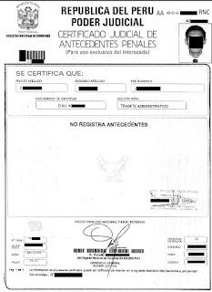 Certificado de antecedentes penales online