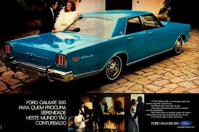 propaganda Ford Galaxie 500 - 1971. 1971. propaganda carros anos 70.história década de 70; Brazilian advertising cars in the 70s, propaganda anos 70; reclame década de 70. Oswaldo Hernandez;