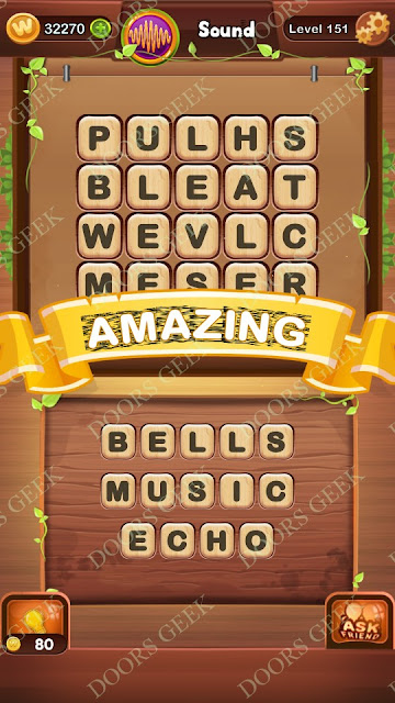 Word Bright Level 151 Answers, Cheats, Solutions, Walkthrough for android, iphone, ipad and ipod