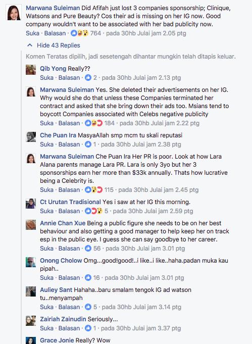 Afifah Nasir Kehilangan 3 'Job' Model Dari Jenama Terkenal Gara-Gara Kontroversi Dengan Aliff Aziz