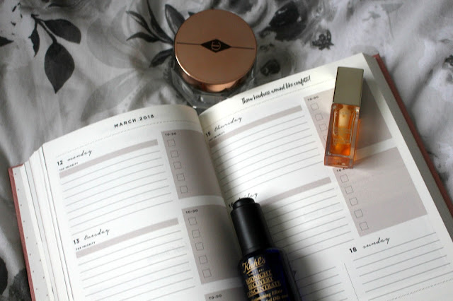 january favourities, charlotte tilbury magic cream, kiehls midnight recovery oil, clarins lip comfort oil, dear diary