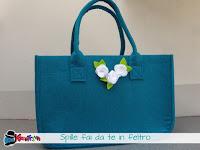 come personalizzare una borsa in feltro fai da te