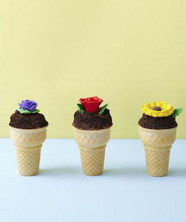 Flower Pot Cupcake Cones