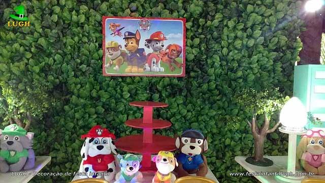 Decoração mesa de festa Patrulha Canina provençal - Aniversário infantil