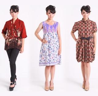 Gaun kemeja batik untuk anak muda