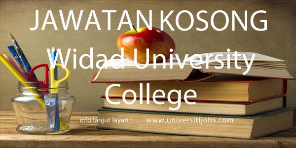 Jawatan Kosong Widad University College 2016