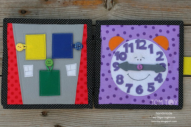 Little quiet book for David, Handmade busy fabric book by TomToy, развивающая книжка