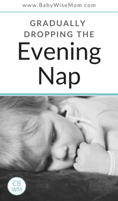Information on Dropping the 3rd Nap (evening) Gradually