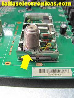 reparar entrada o clavija de tv