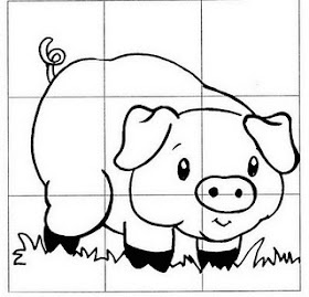 Lúdico na Educação Infantil - Quebra cabeça porco. Educação Infantil