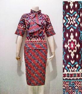 Model Baju Batik Pramugari Motif Asmat Batik Bagoes Solo