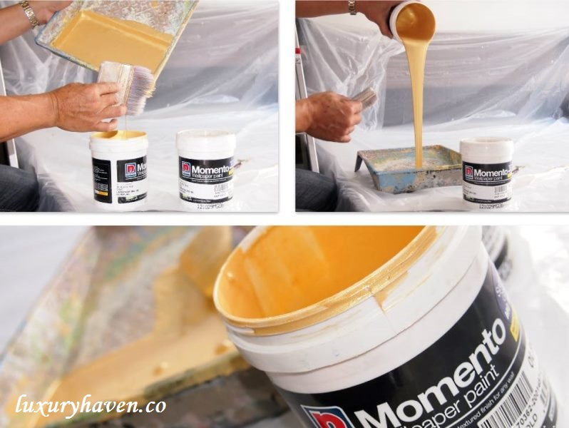nippon paint momento sparkle gold series review