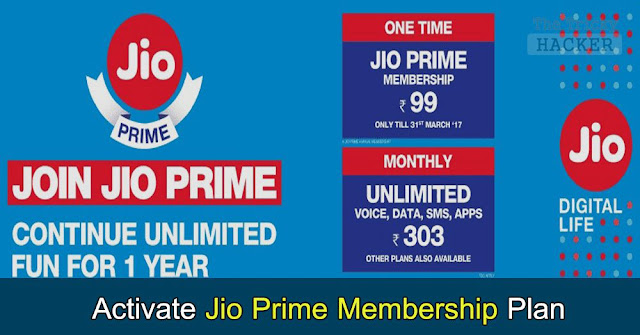 [Tutorial] How To Activate Jio Prime Membership Offer & Enjoy Unlimited 4G Data