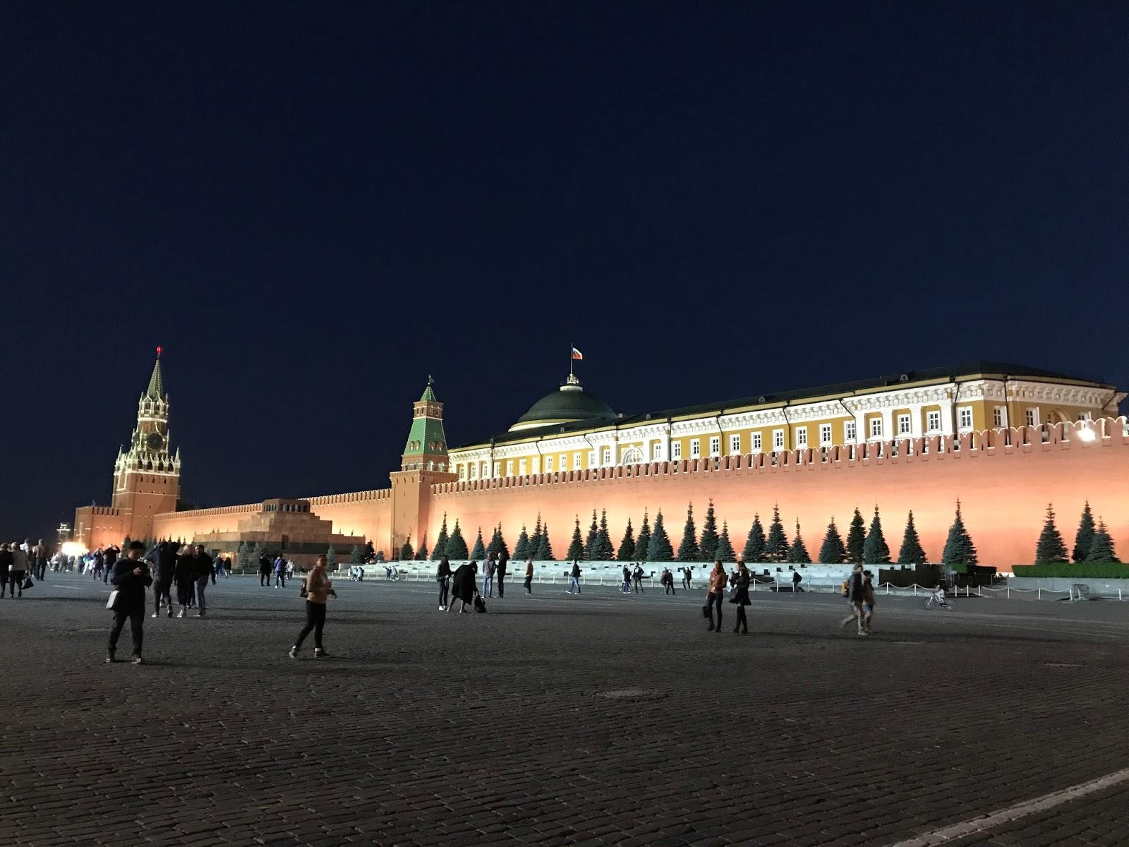 Kremlin à noite - Moscou