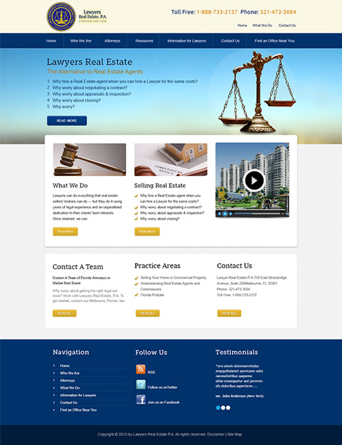 Real Estate Lawyers Website